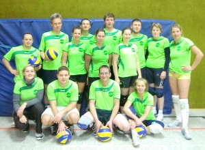 Mannschaftsbild Volleyball Hobbyrunde Mixed Januar 2012