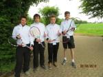 Die bisher ungeschlagenen Tennis Junioren A des MTV
