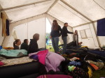 Wir hatten ein tolles Zelt